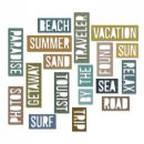 661287 Sizzix Thinlits Die Set 18PK - Vacation Words: Block by Tim Holtz